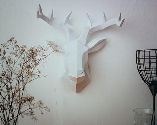Hirschkopf Wanddeko Wandskulptur modern 5