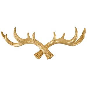 Hansmeier Geweih-Wandgarderobe Gold 5