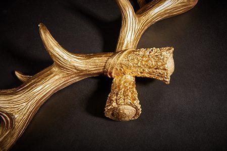 Hansmeier Geweih-Wandgarderobe Gold 3