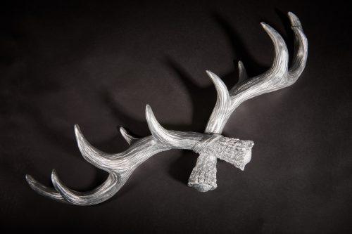 Hansmeier Geweih-Wandgarderobe Silber 5