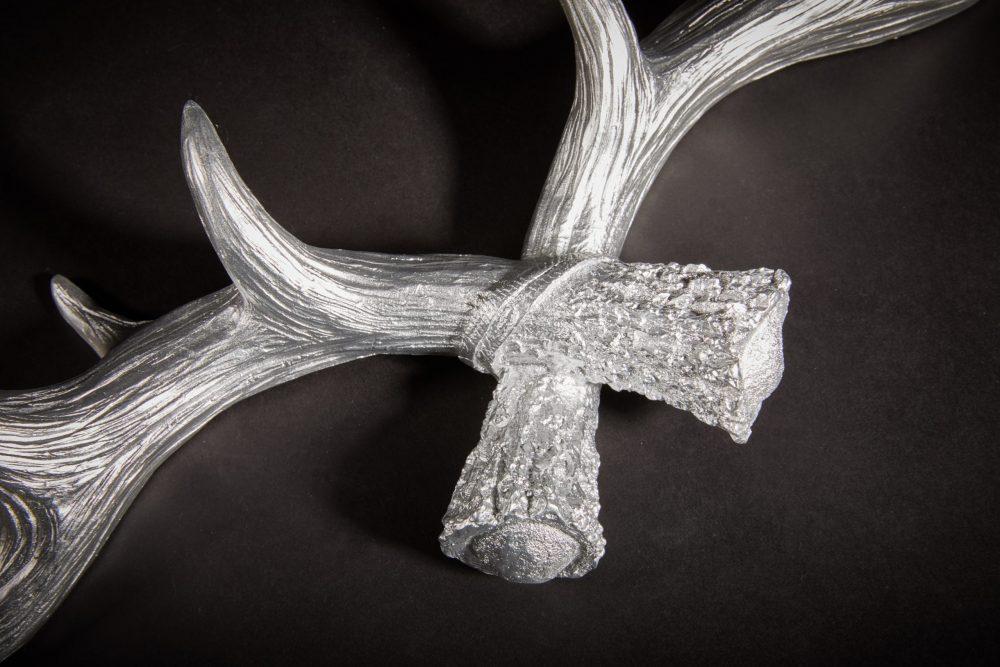 Hansmeier Geweih-Wandgarderobe Silber 3