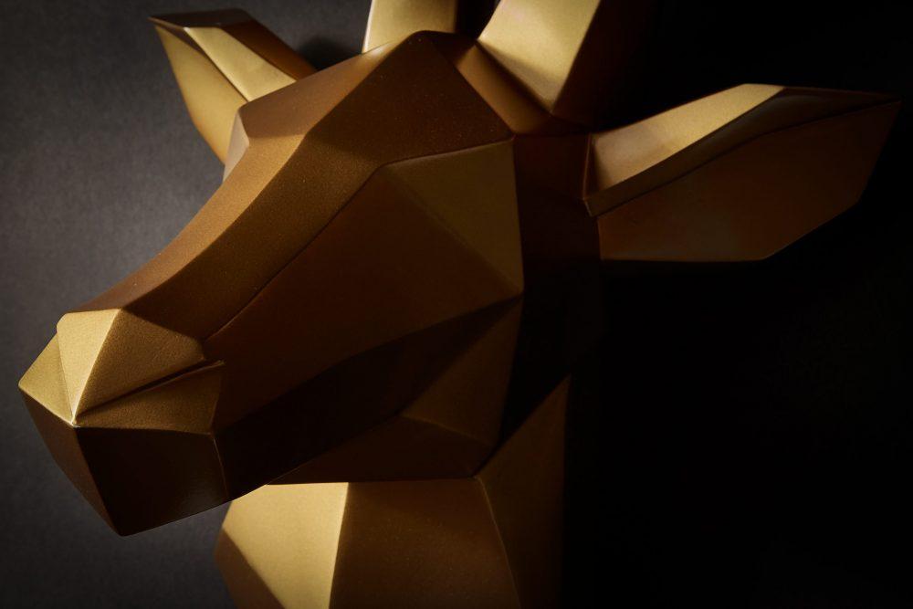 Wanddeko Hirsch gold 7