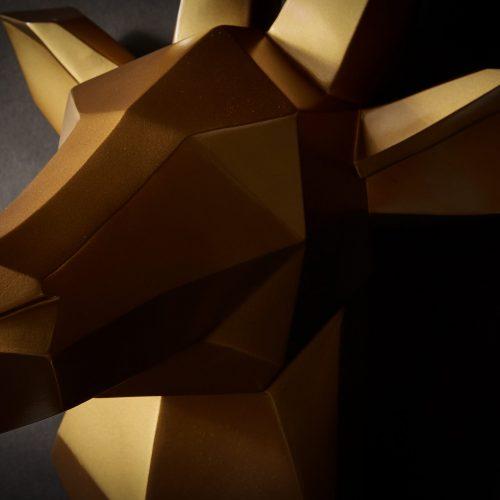 Hirschgeweih Gold 3